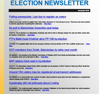 Election Watch Newsletter – Issue No 3.