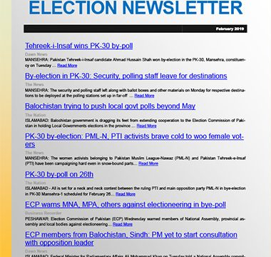Election Watch Newsletter – Issue No 5