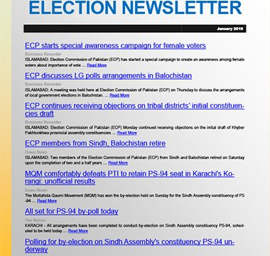 Election Watch Newsletter – Issue No 4.