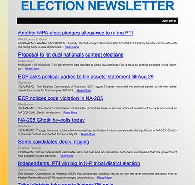 Election Watch Newsletter – Issue No 10